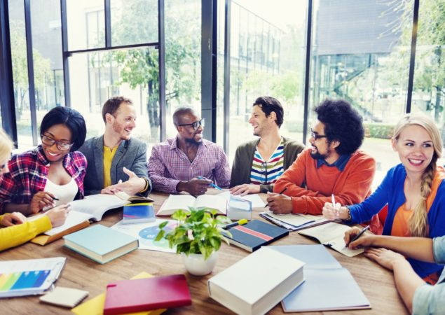 Multi-Ethnic Group of People Working Together